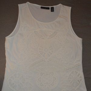 Chico's sleevless top, embroidery design